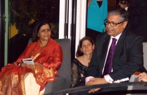 Abhilasha Kumari, left, director of Apne Aap Women Worldwide, and Gopal Subramaniam, right, former solicitor general of India. All photos by Barbara Borst