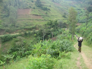 Long descent on the Congo-Nile Trail. Courtesy of Jacob Deering.