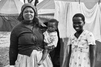 Crossroads squatter camp residents in South Africa.