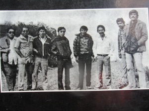 The eight journalists killed in Uchuraccay. From left: Octavio Infante, Jorge Sedano, Amador Garcìa, Jorge Louis Mendìvil, Félix Gavilàn, Pedro Sànchez, Willy Retto, Eduardo De la Piniella. Courtesy of Carmen Hulbert.