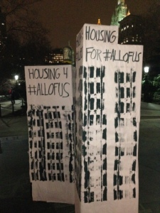 Housing Protest in Downtown Manhattan. Photo by Barbara Borst