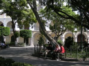 Antigua's Parque Central is the centerpiece of the old colonial city.