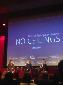 Hillary and Chelsea Clinton with Melinda Gates at NYU. Courtesy Leslie Dewees.