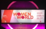 The stage at the Women in the World event. Photo by Leslie Dewees