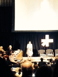 Emma Watson addressed the HeForShe event to the United Nations. Photo by Lori Perkovich