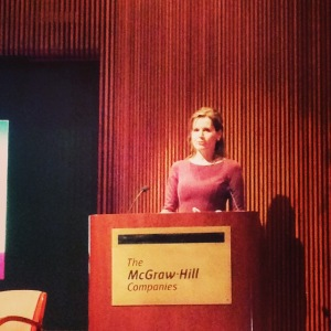 Geena Davis, speaking at the United Nations, called for films and TV shows that show females as equals. Photo by Lori Perkovich