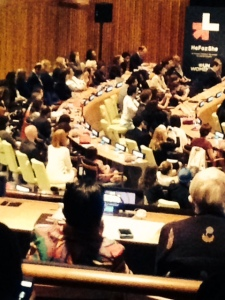 UN Women launched the HeForShe event to engage men in promoting  gender equality. Photo by Lori Perkovich