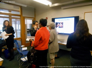 Supporting Skilled Immigrant Workshop attendees engage further on immigrant integration.