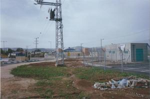 The separation barrier between Israel and the West Bank, near Jenin, under construction in 2005. Photo by Barbara Borst