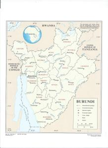 Map of Burundi, courtesy of the United Nations